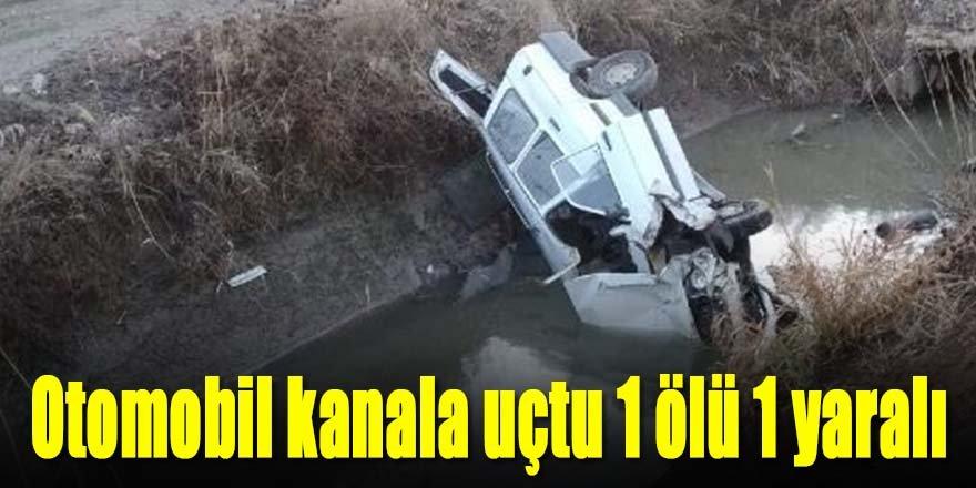 Otomobil su kanalına uçtu: 1 ölü, 1 yaralı
