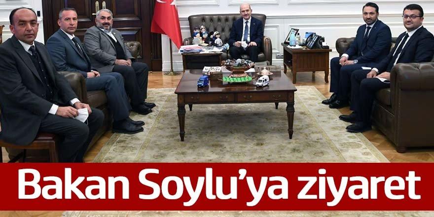 Ak parti İlçe Başkanları ve Etyemez'den Soyluya ziyaret