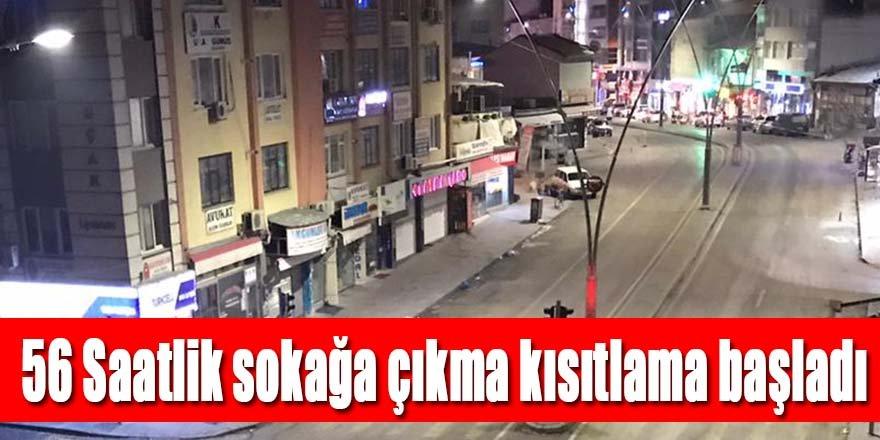 Ereğli'de 56 saat sürecek sokağa çıkma kısıtlaması başladı