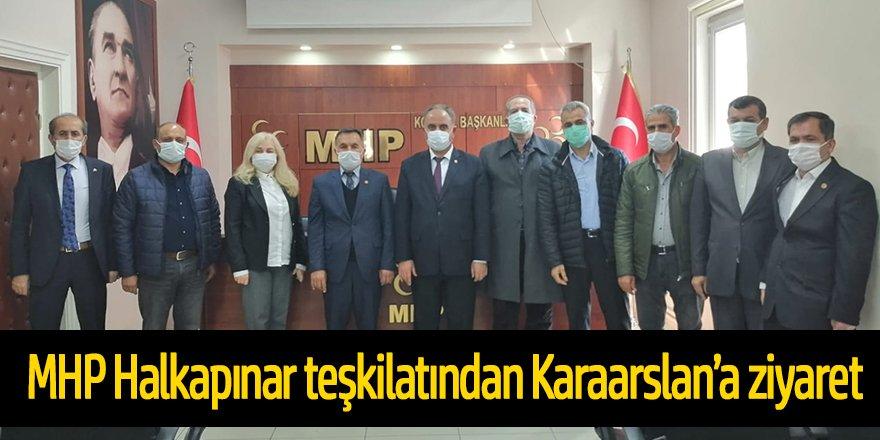 MHP Halkapınar teşkilatından Karaarslan'a ziyaret