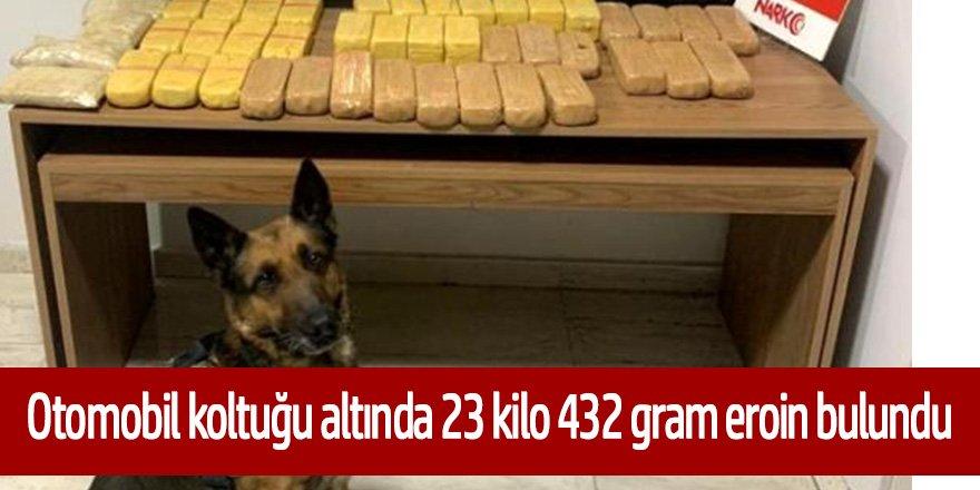 Polisin başarılı operasyonunda 23 kilo eroin ele geçirildi