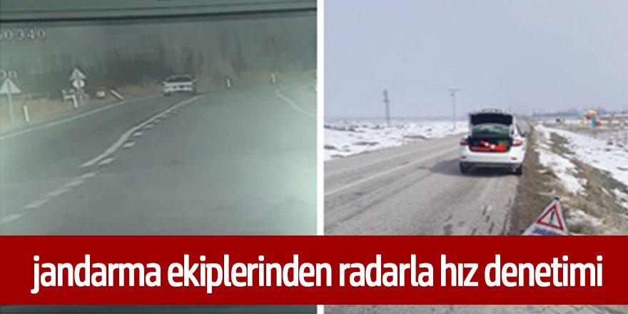 Ereğli'de jandarma ekipleri, radar uygulaması yaptı