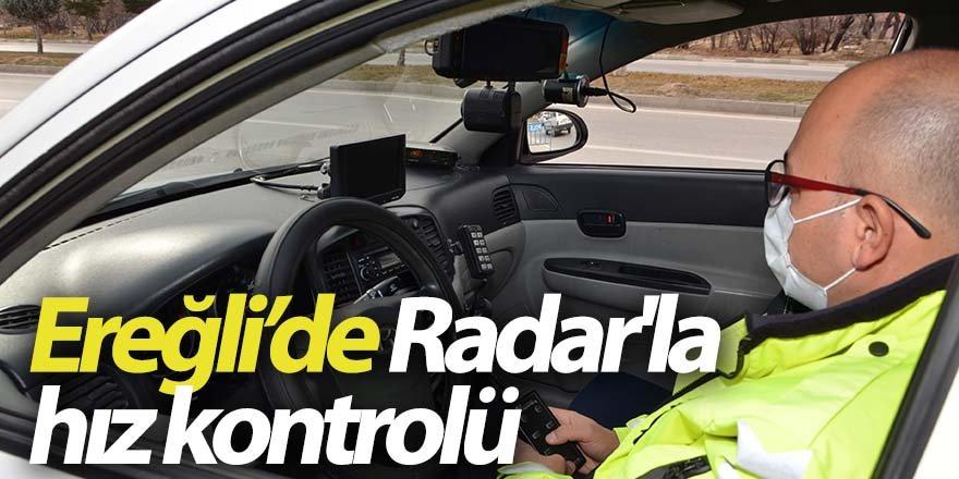 Trafik polislerinden 'Radar'la hız kontrolü'