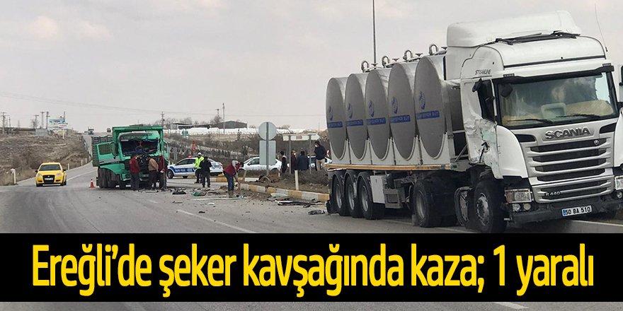 Tanker ile kamyon çarpıştı; 1 yaralı