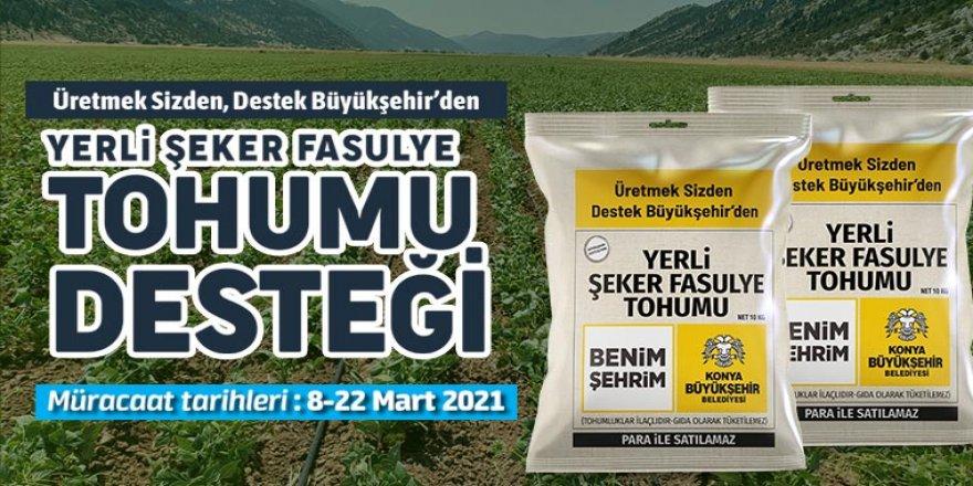 Büyükşehir'den Üreticiye Yerli Şeker Fasulye Tohumu Desteği