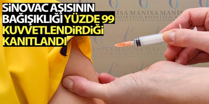 Sinovac aşısının bağışıklığı yüzde 99 kuvvetlendirdiği kanıtlandı