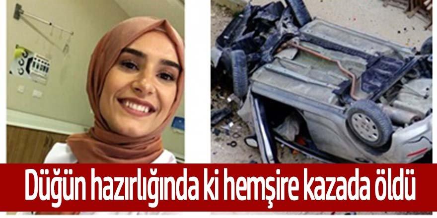 Otomobil stabilize yolda 30 metre yüksekten bahçeye uçtu kazada sürücüsü genç hemşire öldü.