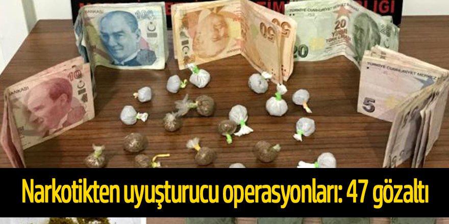Konya narkotikten uyuşturucu operasyonları: 47 gözaltı