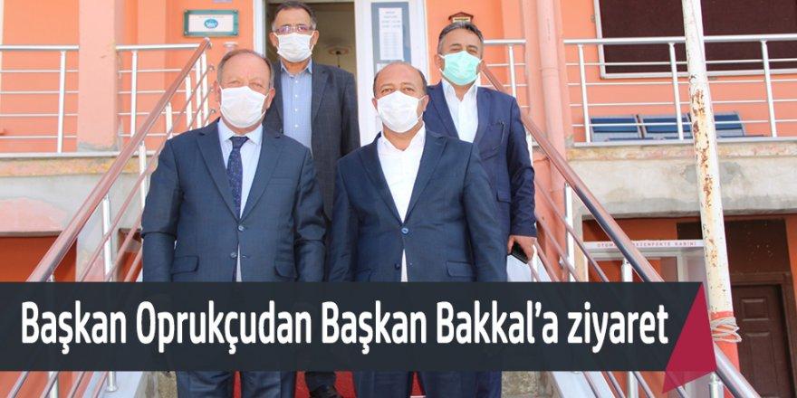 Başkan Oprukçudan Bakkal'a ziyaret