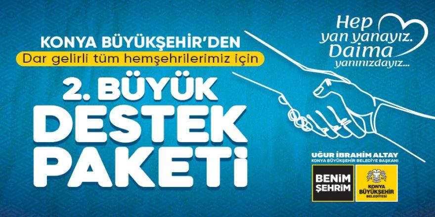 Konya Büyükşehir'den 2. Büyük Sosyal Destek Paketi
