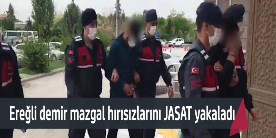 Ereğli'de demir mazgal hırsızlarını jandarma yakaladı