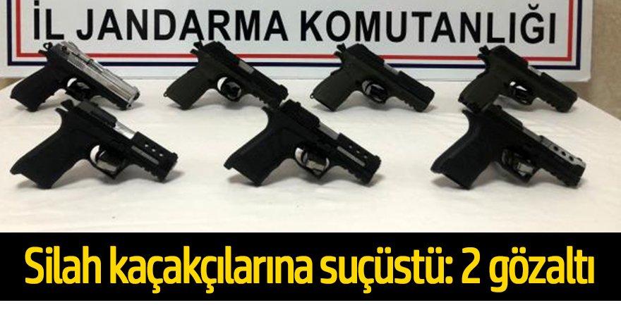 Silah kaçakçılarına suçüstü: 2 gözaltı