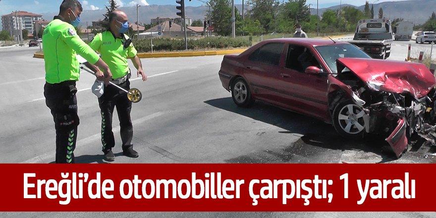 Ereğli'de Fidanlık kavşağında otomobiller çarpıştı: 1 yaralı