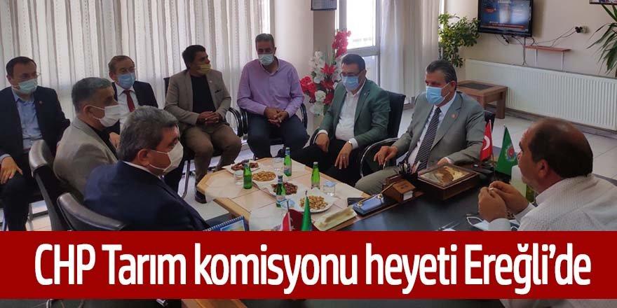 CHP heyeti, Ereğli'de kuraklık konusunda çiftçi ve çiftçi temsilcilerini dinledi