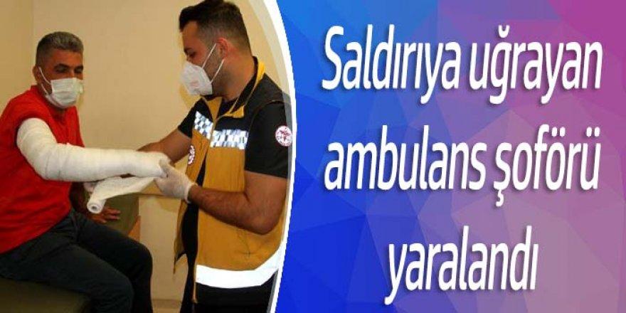 Konya'da saldırıya uğrayan ambulans şoförü yaralandı