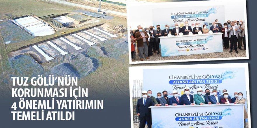 Tuz Gölü'nün Korunması İçin 4 Önemli Yatırımın Temeli Atıldı