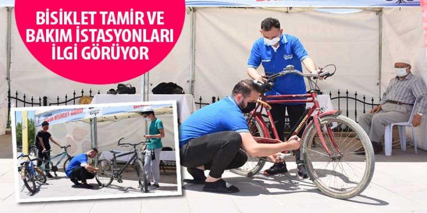 Bisiklet Tamir ve Bakım İstasyonları İlgi Görüyor