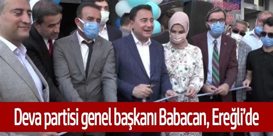 DEVA PARTİSİ GENEL BAŞKANI BABACAN, EREĞLİ'DE