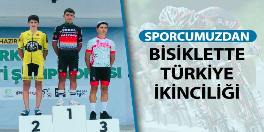 Sporcumuzdan Bisiklette Türkiye İkinciliği