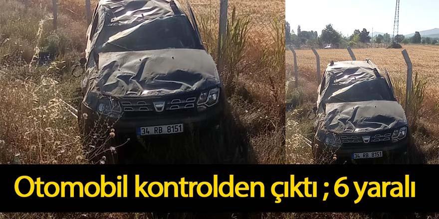 Otomobil yoldan çıktı: 6 yaralı