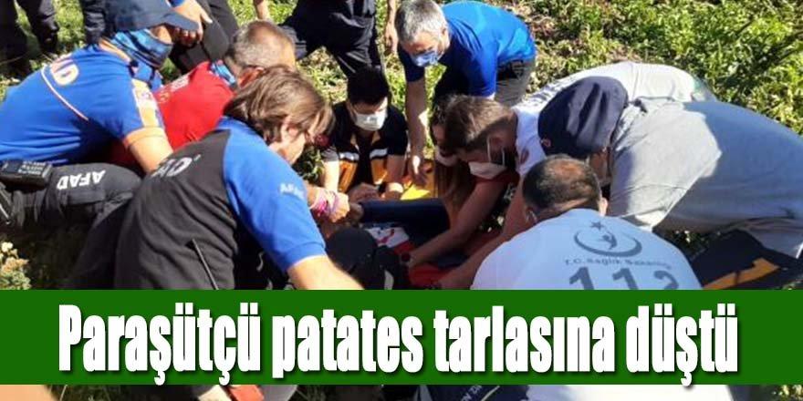 Hasan Dağı'ndan havalanan paraşütçü Niğde'de patates tarlasına düştü