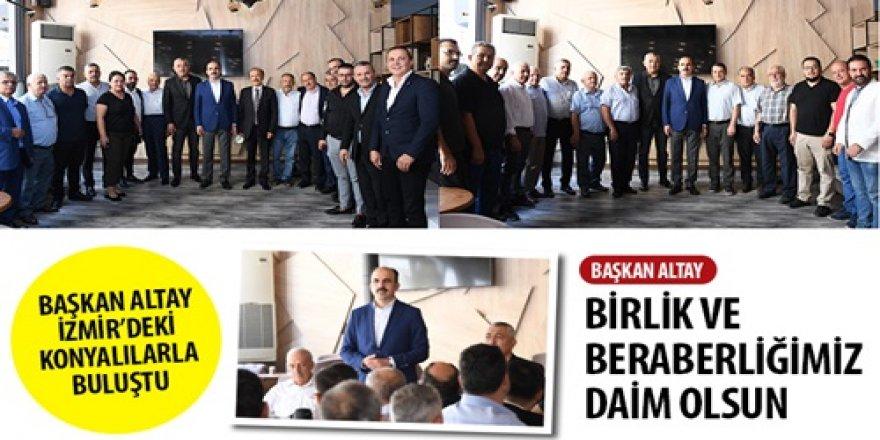 Başkan Altay İzmir'deki Konyalılarla Buluştu