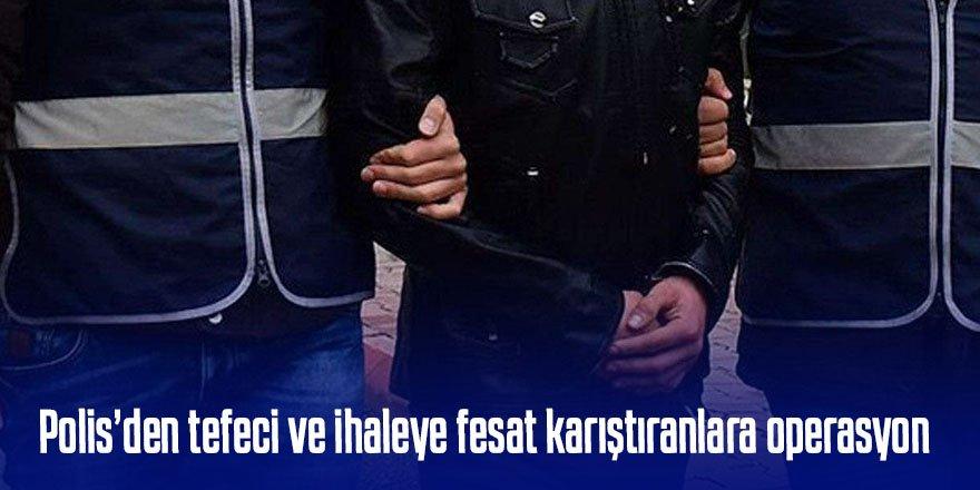 Suç örgütüne operasyon 13 şüpheliden 3 kişi tutuklandı