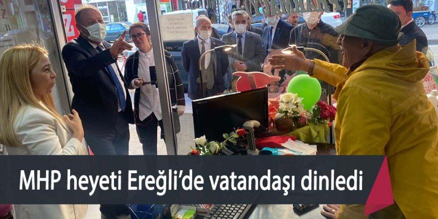 MHP HEYETİ EREĞLİ'DE VATANDAŞLARLA BİR ARAYA GELDİ