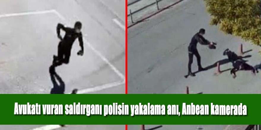 Adliyede avukatı vuran saldırganı polisin yakalama anı, Anbean kamerada