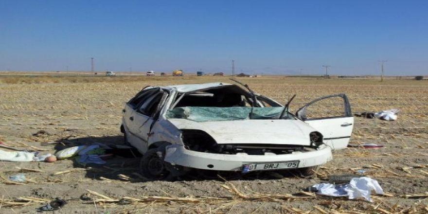 Otomobil Takla Attı 1 Ölü, 3 Yaralı