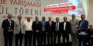 Ayrancı Belediyesi Türkiye Genelinde İkinci Oldu
