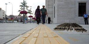 Konya'da Engelleri Kaldıran Yollar Yapılıyor