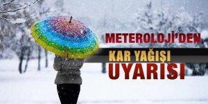METEOROLOJİ'DEN YOĞUN KAR UYARISI!