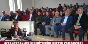 AYRANCI'DAN AFRİN ŞEHİTLERİNE DESTEK KAMPANYASI