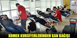 KOMEK Kursiyerlerinden Kan Bağışı
