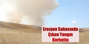 Erozyon Sahasında Çıkan Yangın Korkuttu