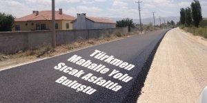 Türkmen Mahalle Yolu Sıcak Asfaltla Buluştu