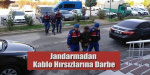 Jandarmadan Kablo Hırsızlarına Darbe