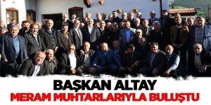 Başkan Altay, Meram Muhtarlarıyla Buluştu