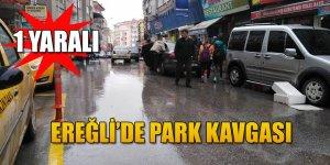 EREĞLİ'DE ESNAFIN PARK KAVGASI