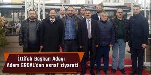 Ereğli Belediye İttifak Başkan Adayı Adem Erdal esnafı ziyaret etti