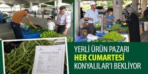 Yerli Ürün Pazarı Her Cumartesi Konyalılar'ı Bekliyor