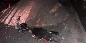 Kum yığını kazaya neden oldu