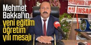 Başkan Bakkal'ın yeni eğitim öğretim yılı mesajı