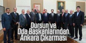 Dursun ve Oda Başkanlarından Ankara Çıkarması