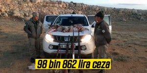 Kaçak ve usulsüz avlanmaya 98 bin 862 lira ceza