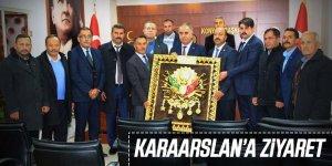 MHP HALKAPINAR TEŞKİLATI VE BAŞKAN BAKKAL'DAN KARAARSLAN'A ZİYARET