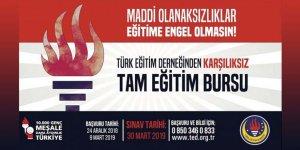 Türk Eğitim Derneği'ndenKarşılıksız Tam Eğitim Bursu