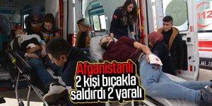 Parkta Afganistanlı 2 kişi bıçakla saldırdı: 2 yaralı