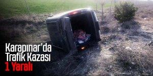 Kontrolden çıkan otomobil takla attı! 1 yaralı